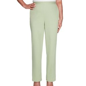 Alfred Dunner 14P Celery Classic Fit Pants 6AS47